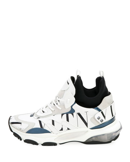 Valentino Garavani Men's Bounce High-Top Lace-Up Sneakers