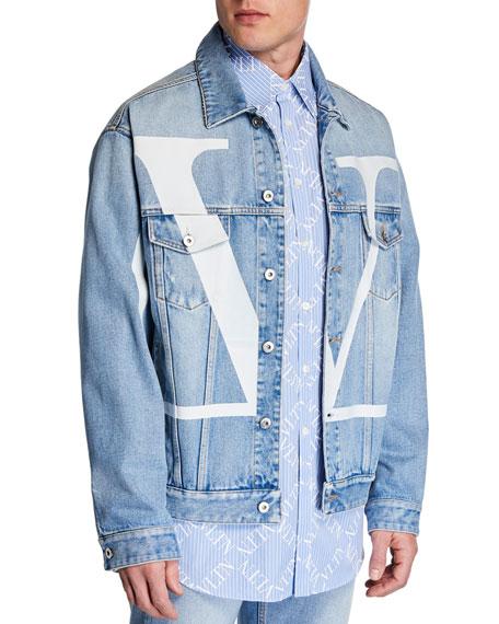 Valentino Men's Logo-Front Jean Jacket