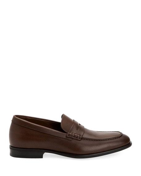 Aquatalia Men's Adamo Leather Dress Penny Loafers
