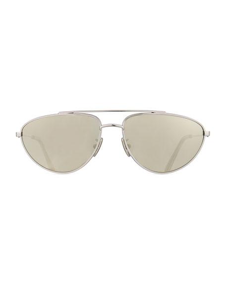 Celine Men's Metal Pilot Sunglasses