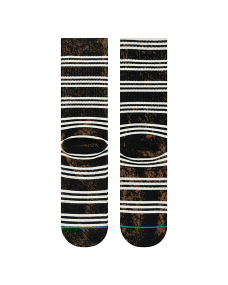 Stance Men's Kurt Tie-Dye Striped Crew Socks