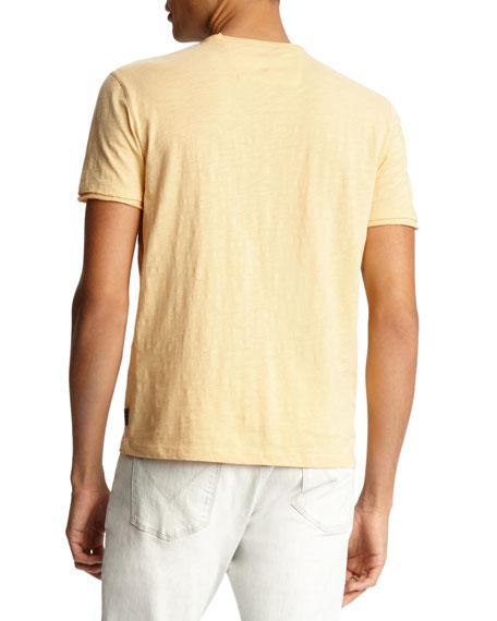 John Varvatos Star USA Men's Miles V-Neck Short-Sleeve Slub Cotton T-Shirt