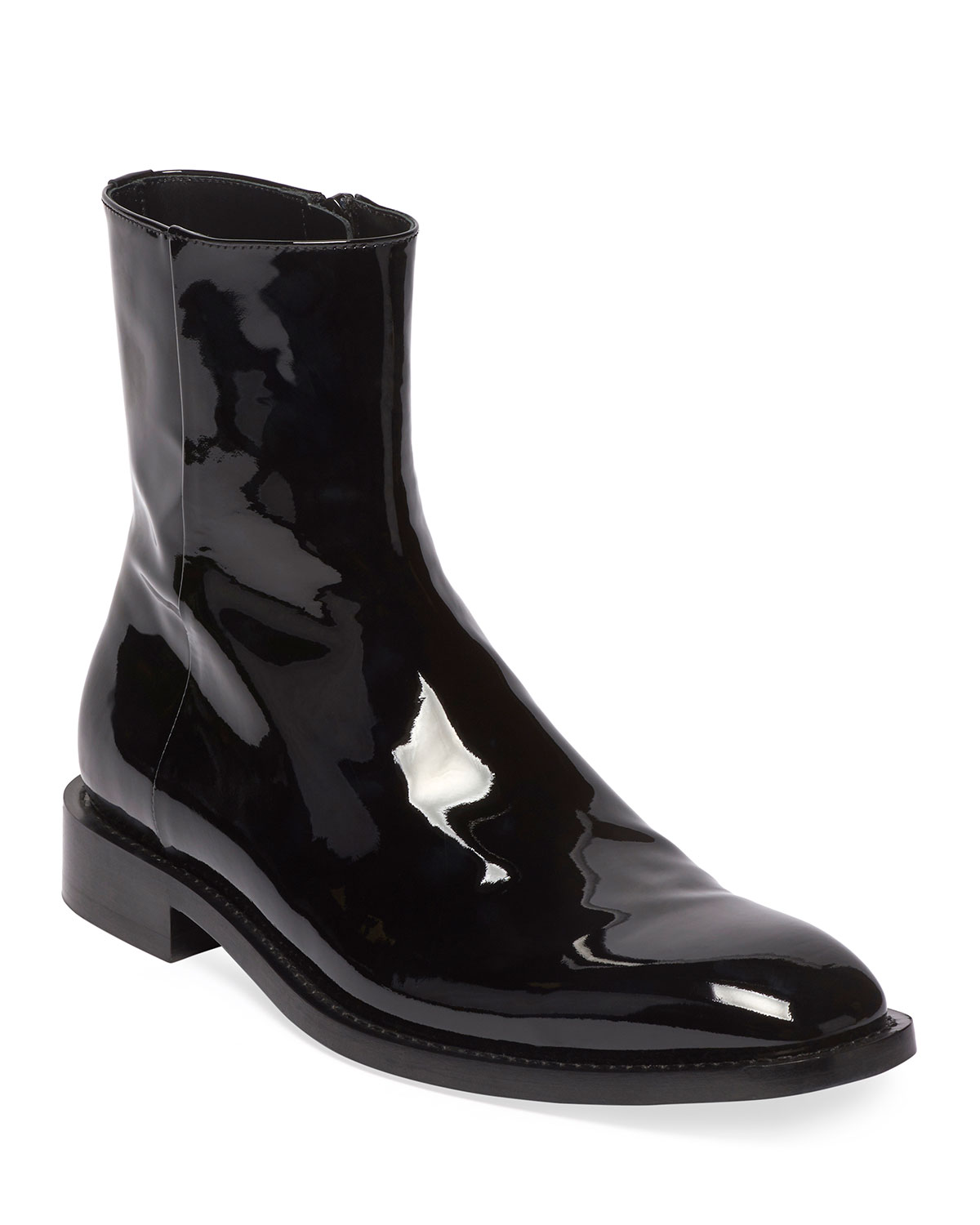 Rim Patent Leather Chelsea Boots