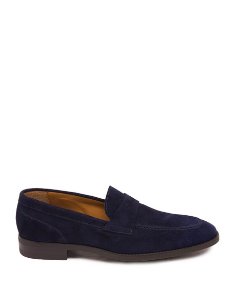 Image 2 of 5: Men's Brando Suede Penny Loafers