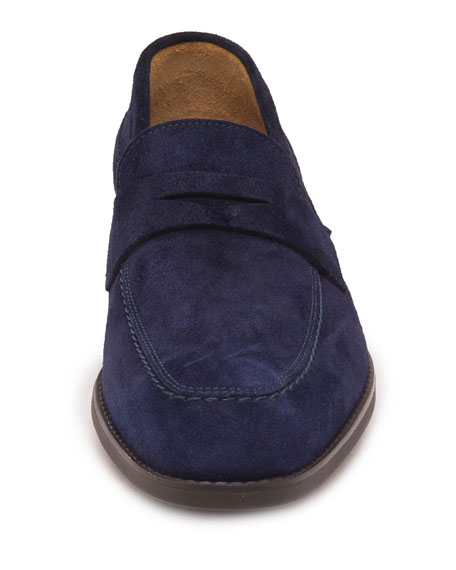 Image 3 of 5: Men's Brando Suede Penny Loafers
