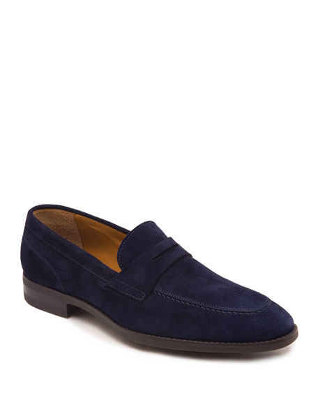 Image 1 of 5: Men's Brando Suede Penny Loafers