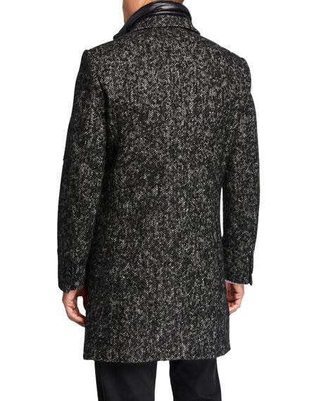 Mackage Men's Skai Tweed Wool-Blend Top Coat