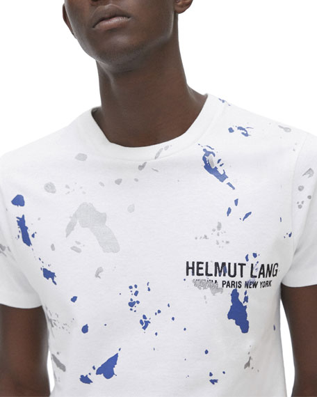 Helmut Lang Men's Paint-Splatter Graphic T-Shirt