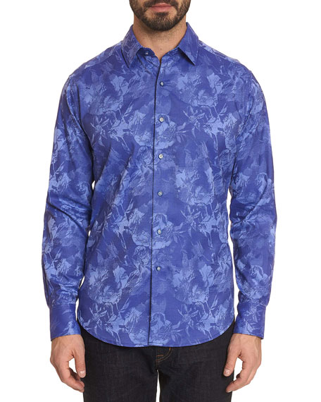Robert Graham T-shirts Men's The Rose Graphic Sport Shirt