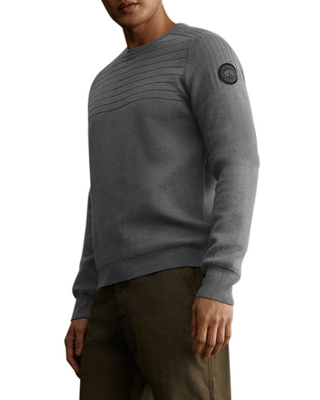 Canada Goose Men's Conway Crew Sweater w/ Logo Patch ...