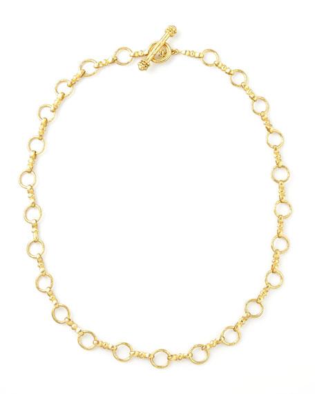 """Elizabeth Locke Celtic Gold 19k Link Necklace, 21""""L"""