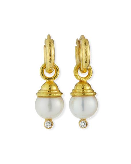 Pearl & Diamond Earring Pendants