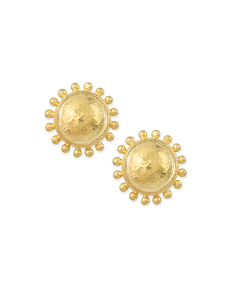 Granulated Dome Stud Earrings