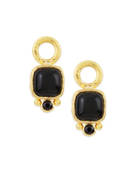 Onyx Cabochon Earring Pendants
