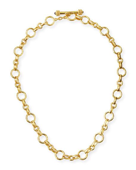 """Elizabeth Locke Siena Gold 19k Link Necklace, 17""""L"""