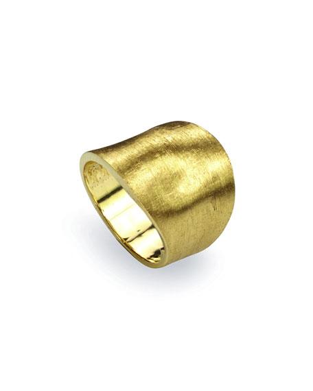 Lunaria 18k Gold Medium Ring, Size 7