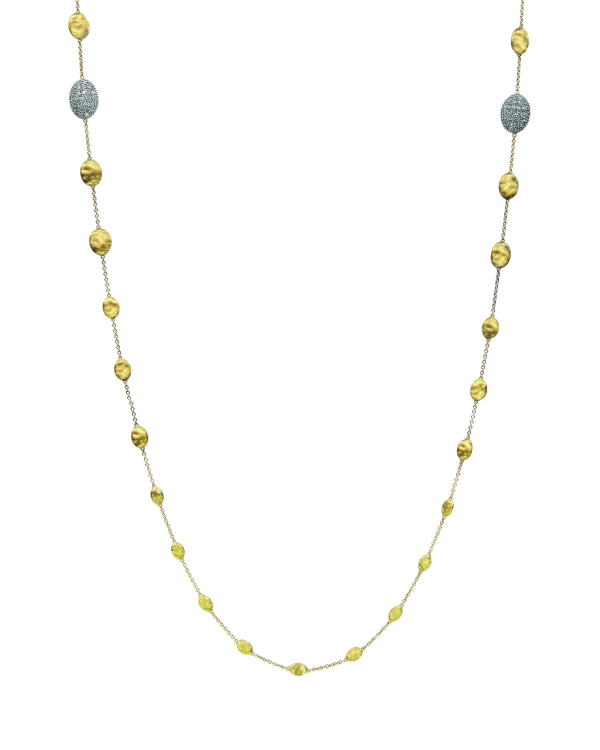 "Marco Bicego Siviglia Diamond Station Necklace, 36""L"