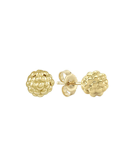 Caviar 18k Gold Stud Earrings