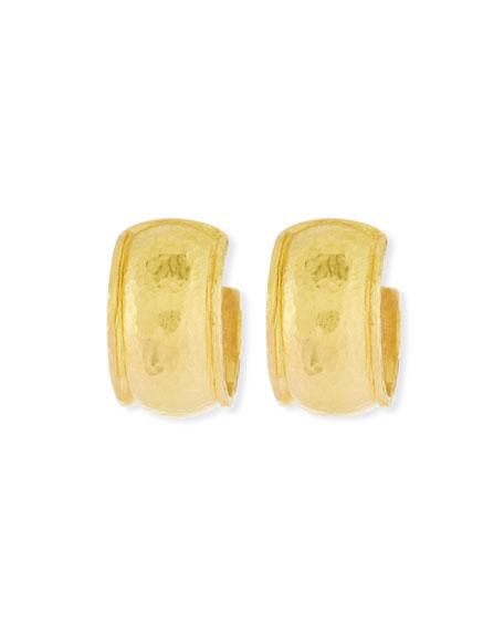 19K Baby Wide Curved Hoop Earrings