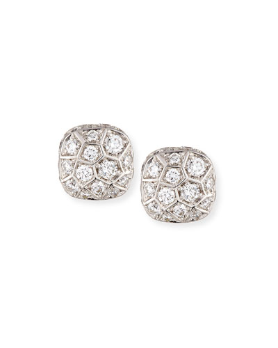 Nudo 18K White & Rose Gold Earrings with Diamonds