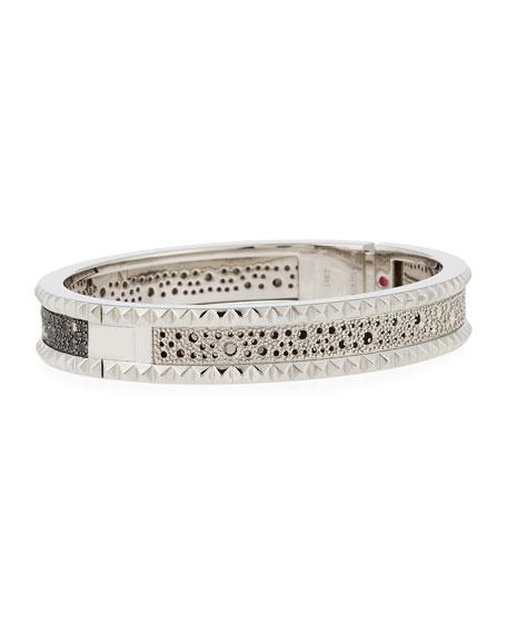 Roberto Coin ROBERTO COIN ROCK & DIAMONDS Small 18K White Gold Bangle Bracelet