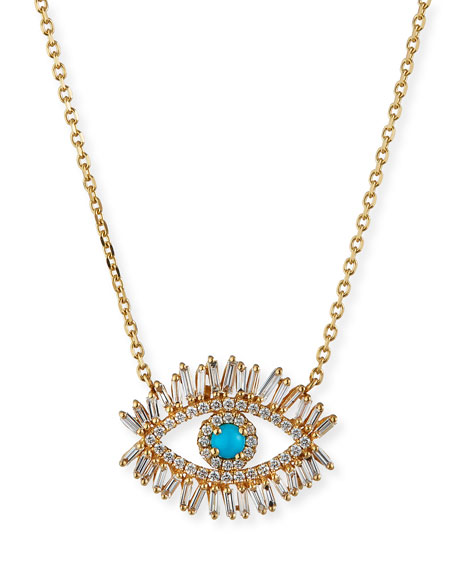 Suzanne kalan turquoise diamond halo pendant necklace neiman turquoise diamond halo pendant necklace aloadofball Gallery