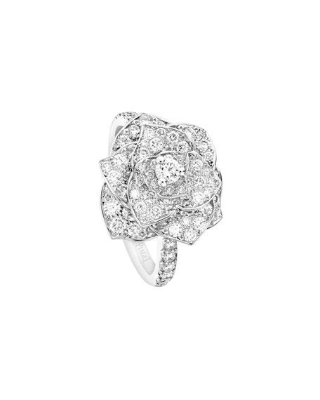 Piaget PAVE DIAMOND ROSE RING IN 18K WHITE GOLD