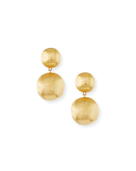 Africa 18K Gold Two-Drop Earrings