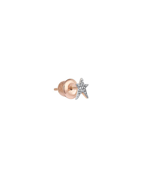 Kismet by Milka Struck Star 14k Diamond Single Stud Earring