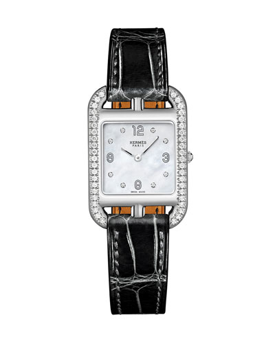Cape Cod Diamond Watch  Stainless Steel & Alligator Strap