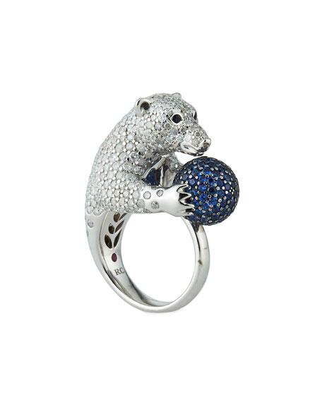 Roberto Coin 18k Diamond Pave Polar Bear Ring,