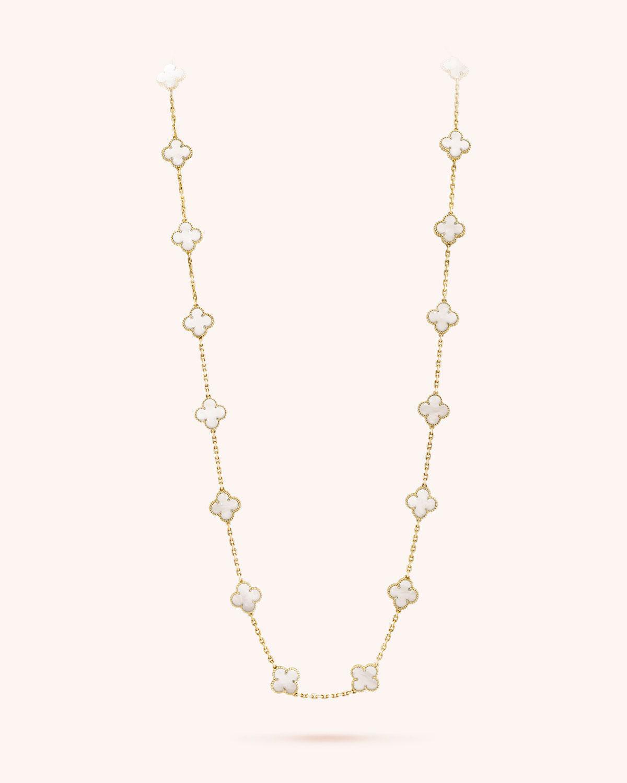 767a04ba41521 Van Cleef   Arpels Vintage Alhambra Necklace