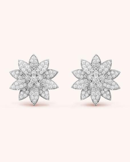 Van Cleef & Arpels Lotus Earrings, Medium