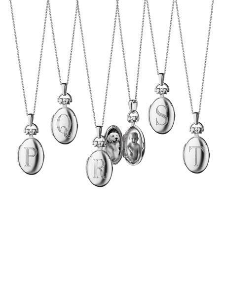 f425fecf2f Image 4 of 5: Monica Rich Kosann Petite Sterling Silver Initial Locket  Necklace