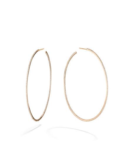 LANA Skinny 14k Gold Diamond Hoop Earrings