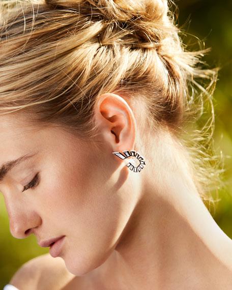 Stephen Webster 18k White Gold Diamond Front-Facing Hoop Earrings