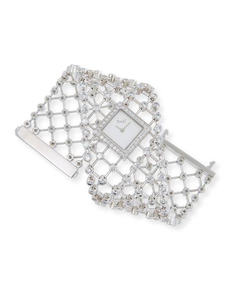 PIAGET Limelight 18k White Gold Diamond Bracelet Watch