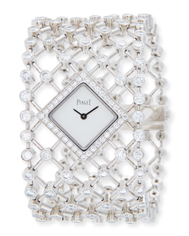 Limelight 18k White Gold Diamond Bracelet Watch