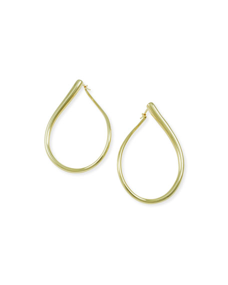 Alberto Milani Millennia 18k Rose Gold Electroform Pear Earrings