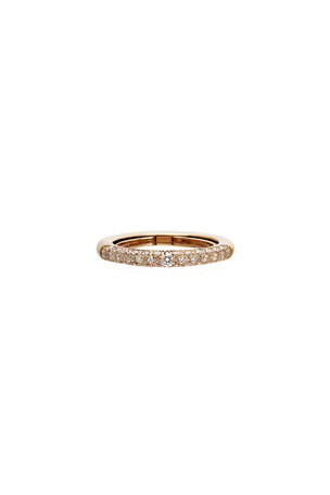 Adolfo Courrier Never Ending 18k Pink Gold Diamond Ring, Size 6-8