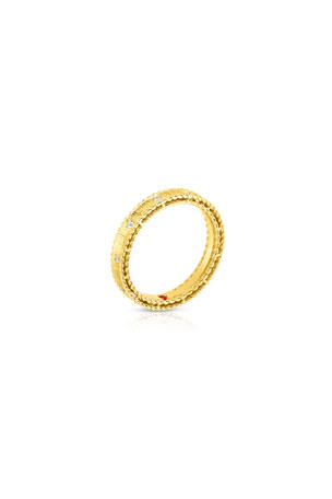 Roberto Coin Princess 18k Yellow Gold Diamond Ring, Size 6.5