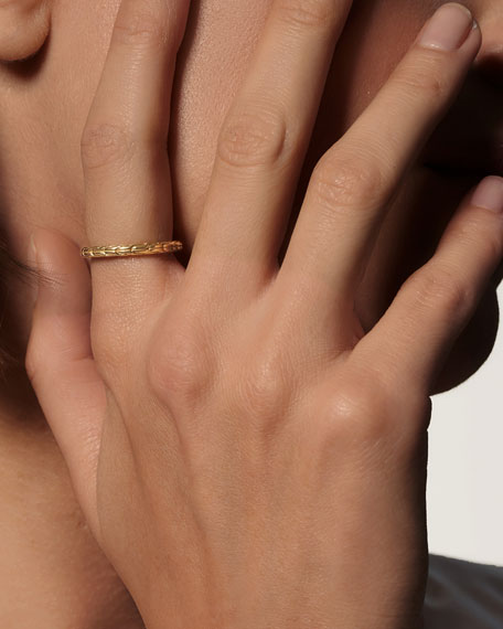John Hardy Classic Chain 18k Gold Band Ring, Size 7