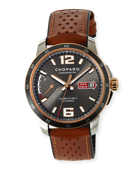 Image 1 of 2: Chopard 43mm Mille Miglia Watch with Perforated Strap