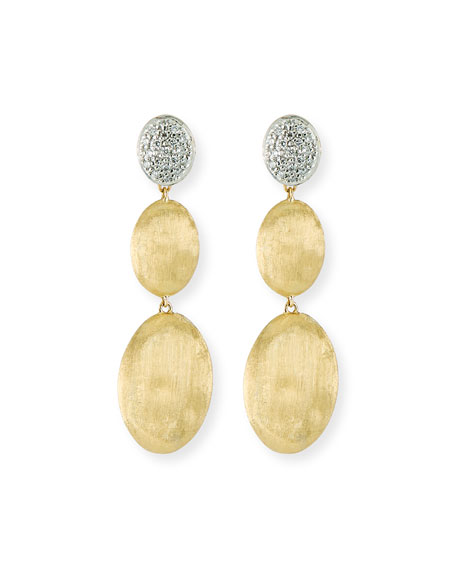Image 1 of 2: Marco Bicego Siviglia Large 3-Drop Earrings with Diamonds