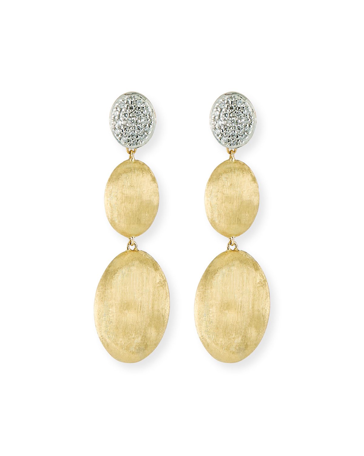 Marco Bicego Siviglia Large 3-Drop Earrings with Diamonds