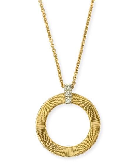 Marco Bicego Masai Circle Pendant with Diamonds