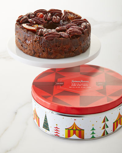 Traditional Fruitcake In Whimsy Tin