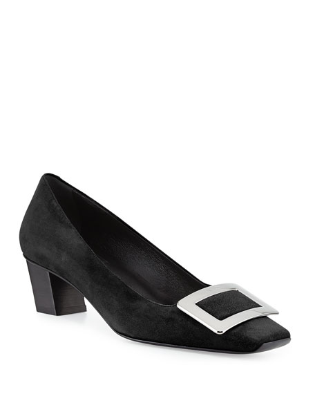 Decollete Belle 45mm Suede Pump by Roger Vivier
