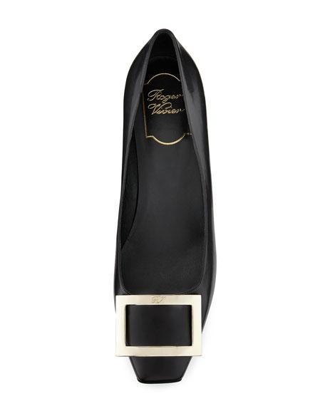 Roger Vivier Trompette Leather 45mm Pumps, Black