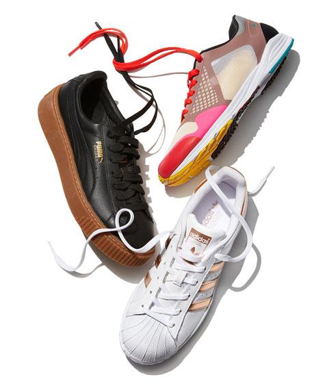 Basket Leather Platform Low-Top Sneakers